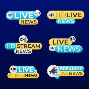 Nieuwsbanners ontwerpen live stream