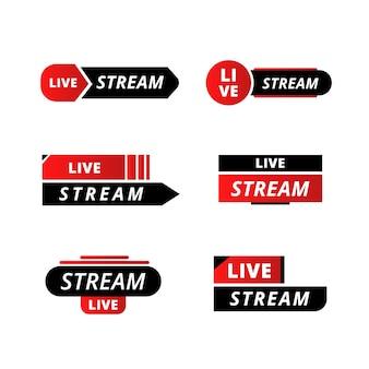 Nieuwsbanners voor live streams
