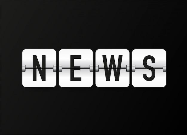 Nieuwspictogram, badge, embleem voor uitzending of online tv-stream.