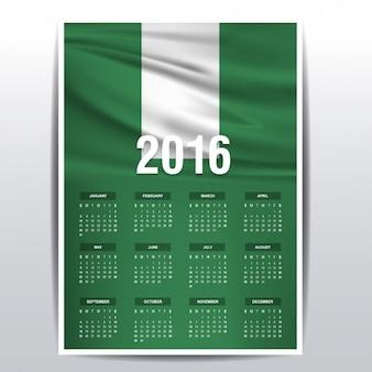 Nigeria kalender van 2016