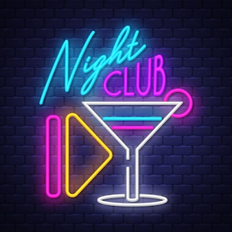 Night club-neonreclame