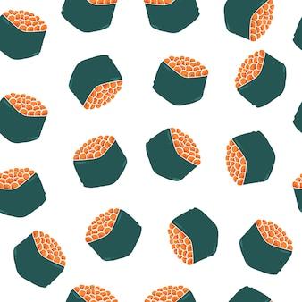 Nigiri sushi naadloze patroon.