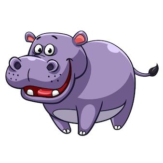 Nijlpaard cartoon stijl