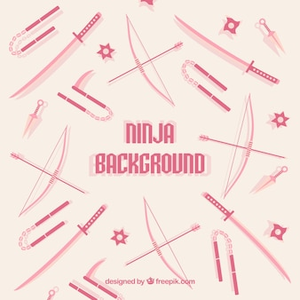 Ninja achtergrond met wapens