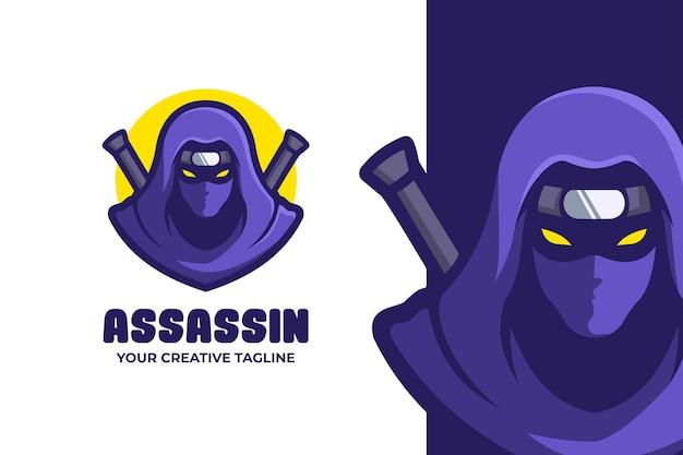 Ninja assassin mascot karakter logo