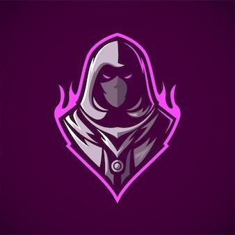 Ninja assassin mascot logo