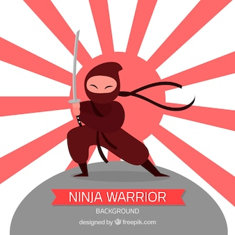 Ninja krijger achtergrond