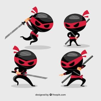 Ninja krijger personage collectie