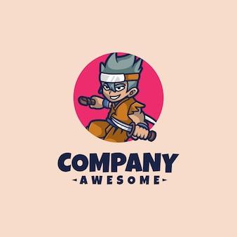 Ninja-logo mascotte
