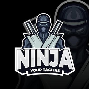 Ninja-logosjabloon met details