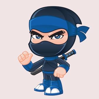Ninja mascotte illustratie