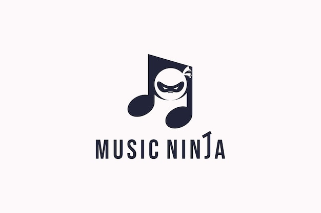 Ninja masker logo opmerking opmerking symbool