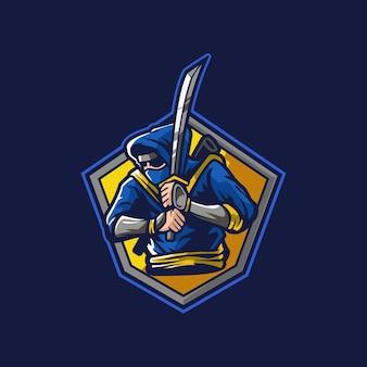 Ninja zwaard japan doden embleem team mensen vallen aan