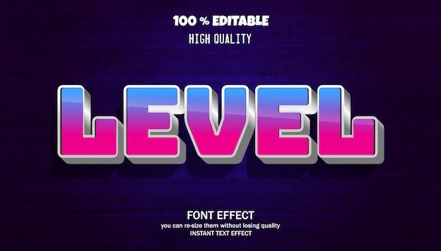 Niveau teksteffect