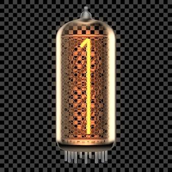 Nixie buis indicatielampje met nummer