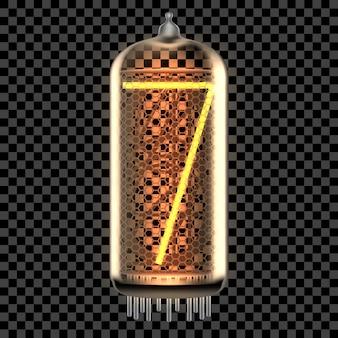 Nixie tube indicatielampje met nummer