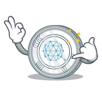 Noem me qtum coin character cartoon