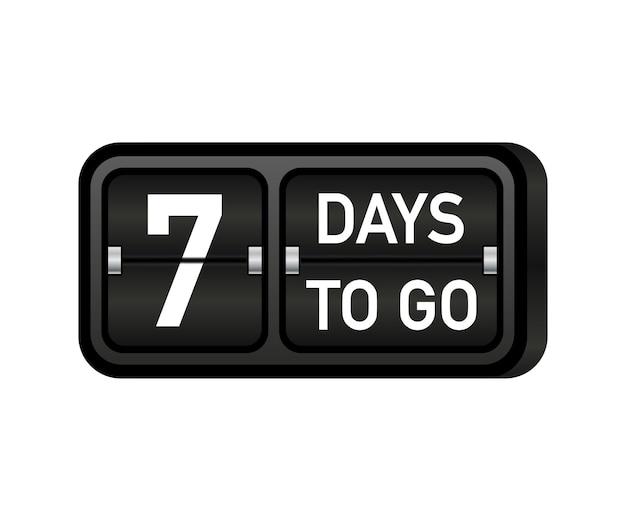 Nog zeven dagen te gaan, donkere embleembanner