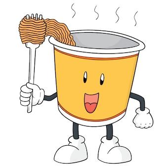 Noodle cartoon
