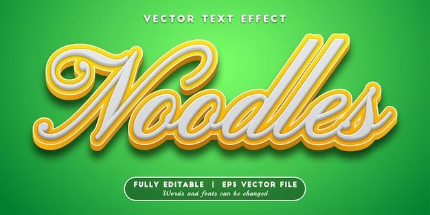 Noodles-teksteffect, bewerkbare tekststijl