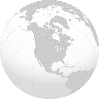Noord-amerika is een continent dat volledig op het noordelijk halfrond ligt en bijna allemaal op het westelijk halfrond