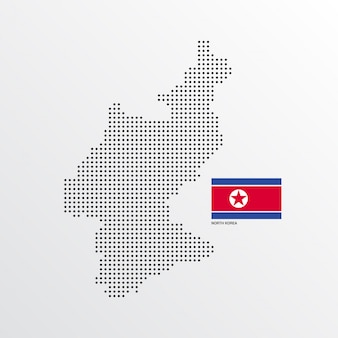 Noord-korea kaartontwerp