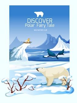 Noordelijke landschaps natuur natuur poster afdrukken