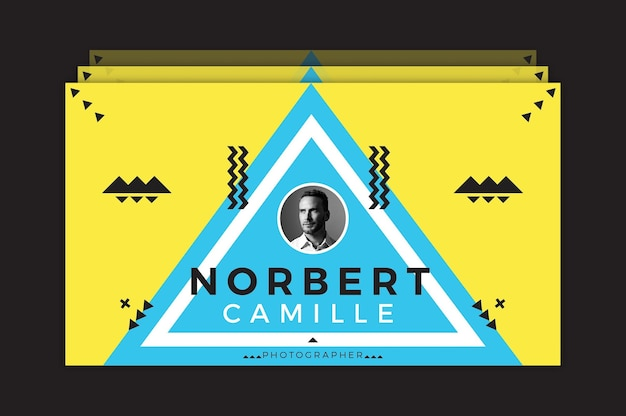Norbert camille bussiness kaartsjabloon