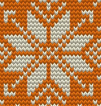 Nordic gebreid perfect naadloos patroon. ga gewoon naar swatches en geniet ervan. en omvat ook Premium Vector