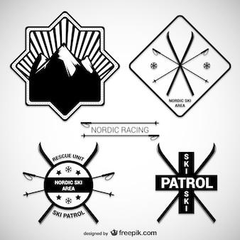 Nordic ski badges
