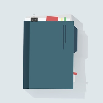 Notebook dagboek pictogram vectorillustratie