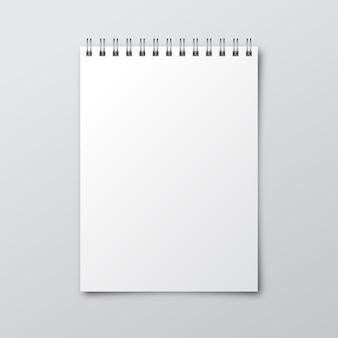 Notebook. mockup van papieren notitieblok. sjabloon voor notebook