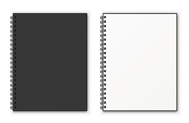 Notebook spiraalvormig model.