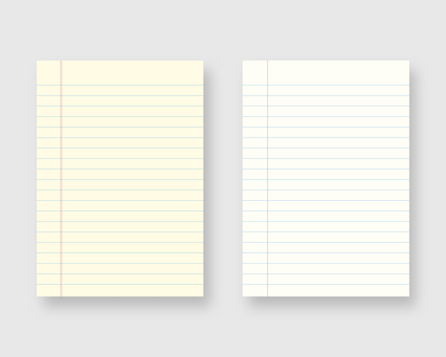 Notebookpapier set. vel gelinieerd papier