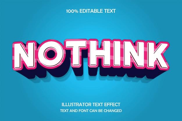 Nothink, 3d bewerkbaar teksteffect moderne reliëfboogstijl