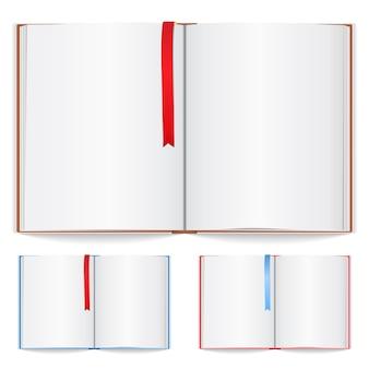 Notitieboekje met bladwijzerillustratie