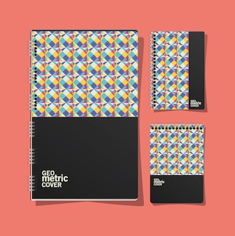 Notitieboekjes met geometrische omslag