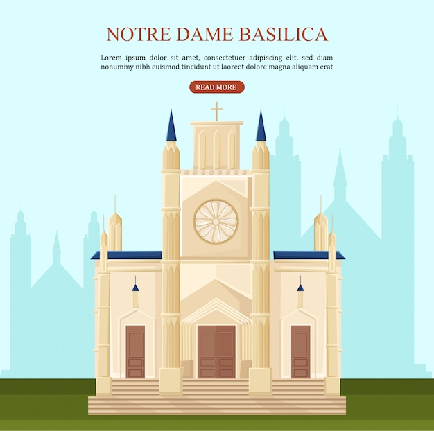 Notre dame basilica in parijs