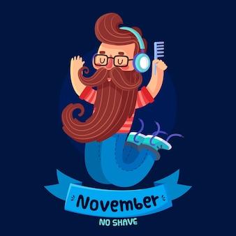 November-concept in plat ontwerp