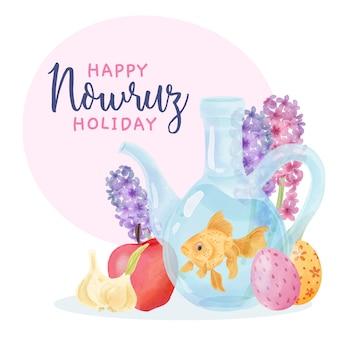 Nowruz evenement aquarel ontwerp