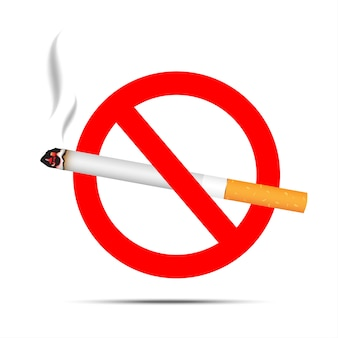 Nr - rokend teken dat op witte achtergrond wordt geïsoleerd