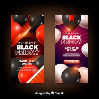 Nu winkelen zwarte vrijdag banner