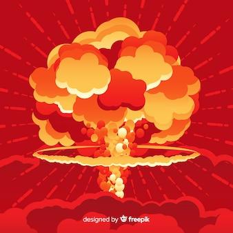 Nucleaire bom effect vlakke stijl