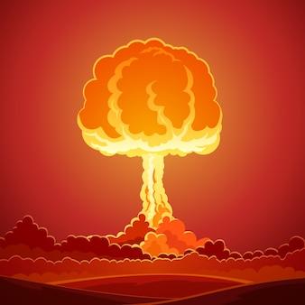 Nucleaire bom explosie sjabloon
