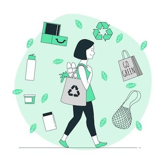 Nul afval concept illustratie