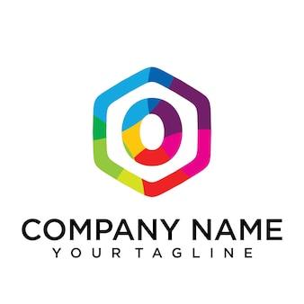 Nul letter logo icon zeshoek ontwerpsjabloon element