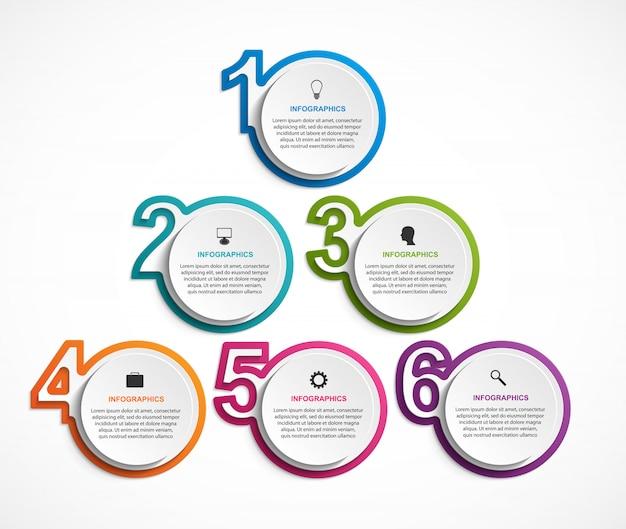 Numeriek infographic sjabloon voor presentaties.