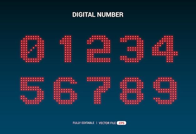Numeriek led-nummerontwerp
