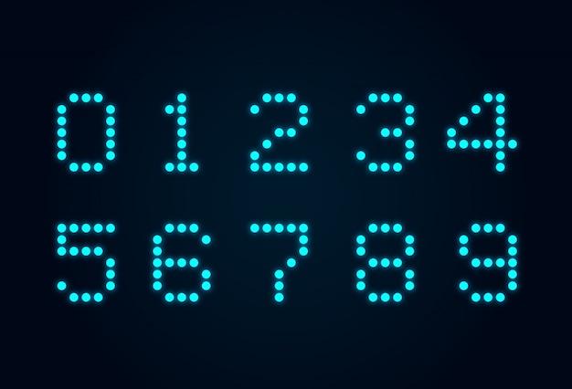 Numeriek ontwerp met één led-nummer