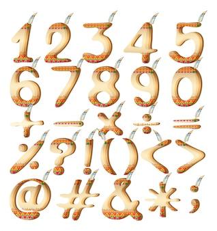 Numerieke cijfers in indiase kunstwerk